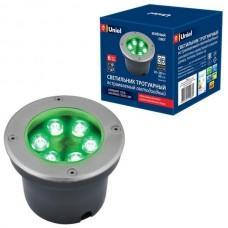 Встраиваемый светильник уличный ULU-B11A-6W/GREEN IP67 GREY