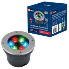 Встраиваемый светильник уличный ULU-B11A-6W/RGB IP67 GREY