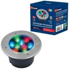 Встраиваемый светильник уличный ULU-B12A-9W/RGB IP67 GREY